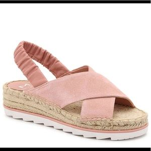 Marc Fisher Pella Suede Espadrille Sandals